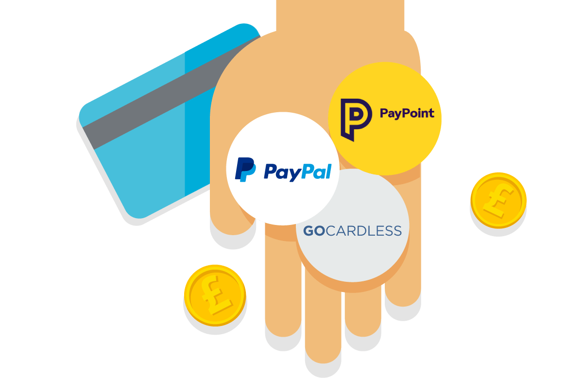 Pay invoices with PayPal, PayPoint and GoCardless