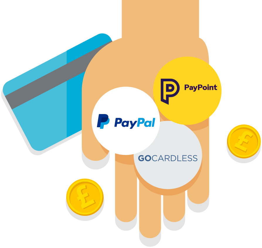 Pay your invoices with PayPal, PayPoint and GoCardless